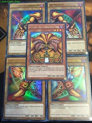 YUGIOH: EXODIA THE FORBIDDEN ONE 5-CARD SET* YGLD Ultra - RARE 1st EDITION HOLO