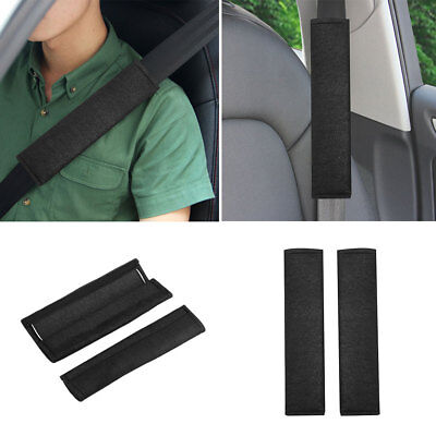 2Pcs Car Vehicles Plush Soft Seat Belt Shoulder Pads Safety Covers Black
