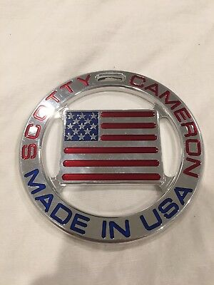 Hard to find Scotty Cameron USA FLAG Metal Bag Tag - Used