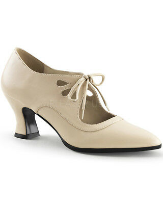 Cream Victorian Womens Shoes