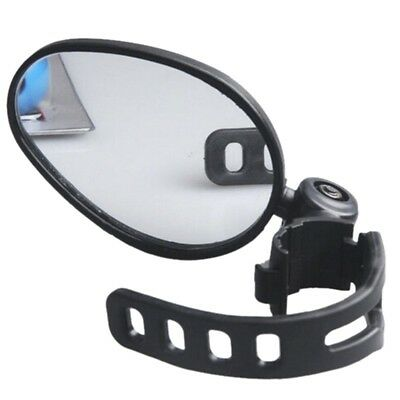 Adjust 360° Rotating Bike Bicycle Cycling Handlebar Rearview Mirror Glass