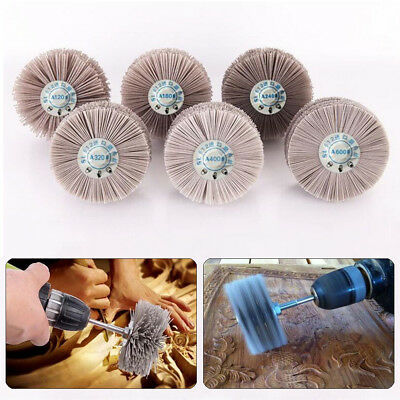 80mm Dia 80~600 Grit Abrasive Nylon Brush Grinding Polishing Tool For Stone Wood