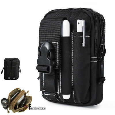 Tactical Molle Fanny Pack Cellphone Pouch Flashlight Sundries Accessory Tool Bag