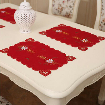 Christmas Table Mats Placemats Napkins Cloth Decor Cover for Kitchen Holiday Set