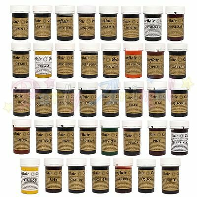 sugarflair - Complete FULL SET of 40 SPECTRAL Food Colour Gel Pastes - 25g pots