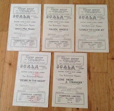 5 SCALA REPERTORY THEATRE DARTFORD programmes