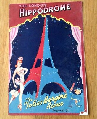 LONDON HIPPODROME programme THE FOLIES BERGERE REVUE