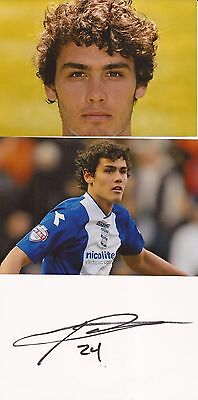 BIRMINGHAM: WILL PACKWOOD SIGNED 6x4 WHITE CARD+UNSIGNED PHOTOS+COA