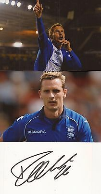 BIRMINGHAM: PETER LOVENKRANDS SIGNED 3x5 WHITECARD+2 UNSIGNED PHOTOS+COA