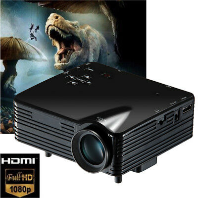 1080P Multimedia TV Beamer  HD Heimkino Projektor LED/LCD HDMI VGA AV TV VGA