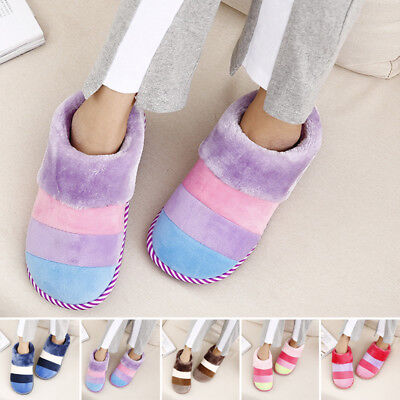 Fashion Ladies Faux Fur Indoor Slip on Bed Pumps Women Warm Slippers Shoes Size