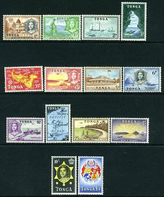 TONGA-1953 Set to £1  Sg 101-114 MOUNTED MINT V18934