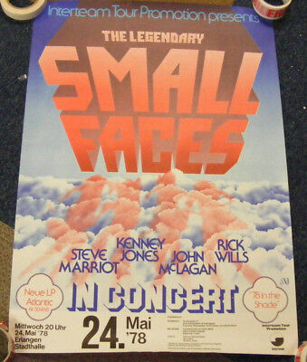 A genuine Small Faces german poster in good condition