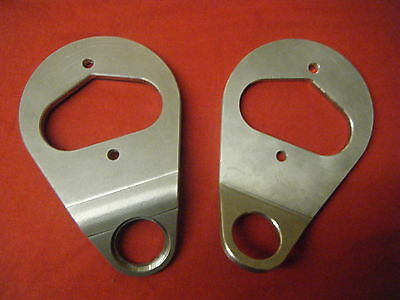 Pair 6Mm Mill Aluminium Clock Mounts Triumph Triton Norton Heavy Duty