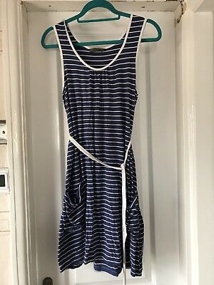 Blooming Marvellous Mothercare maternity dress, blue white striped, size 12
