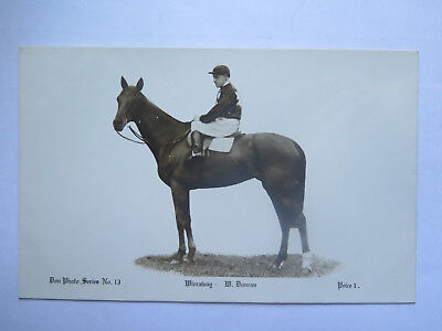 POSTCARD HORSE RACING DON PHOTO SERIES HORSE WIRRAWAY 1920s with W DUNCAN UP