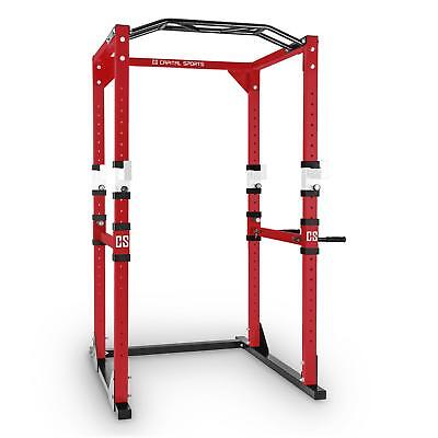 Power Rack Attrezzi Palestra Pesi Pesistica Bilanciere Crosstrain Workout Rosso