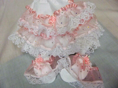 Dream Baby Girls Pink Sparkles Knickers & Socks Set Nb To 0-3 Months Or Reborn