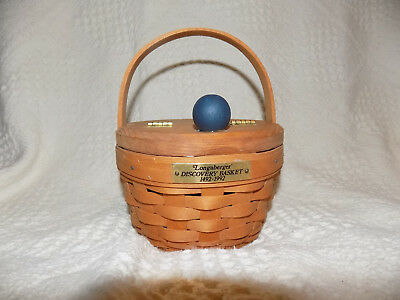 Longaberger 1991 Discovery Basket 1492-1992 with lid  *Preowned