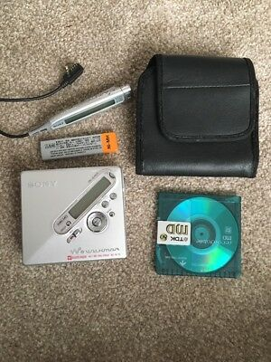 Sony Walkman MD MZ-N710 Personal Minidisc Player/Recorder - Fault, Plays on AC