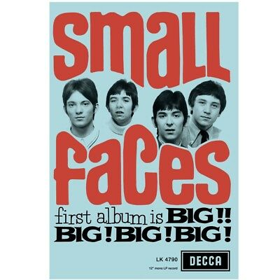 Small Faces Limited Art Print 100 Only Hand Signed Autographed By Kenney Jones