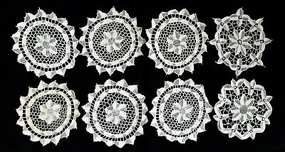Set of6 + 2 ExtraAntique / Vintage Lace Doilies or Coasters