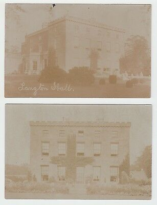 Langton Hall - country house nr Market Harborough (2 RP postcards) Leics