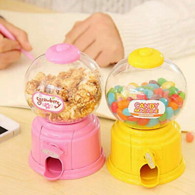 Practical Mini Candy Gumball Dispenser Machine Snacks Storage Box Coin Bank Toys