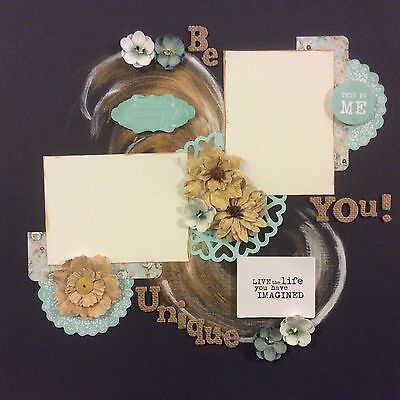 handmade scrapbook page 12 X 12 Be You Be Unique Layout