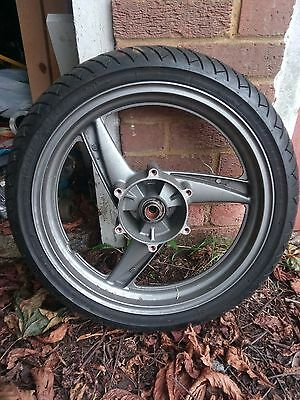 Kawasaki ER5 ER-5 front wheel with tyre. Very good condition.