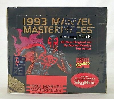 MARVEL MASTERPIECES 1993 FACTORY SEALED Box Case Fresh Comics Foil Rare HTF OOP