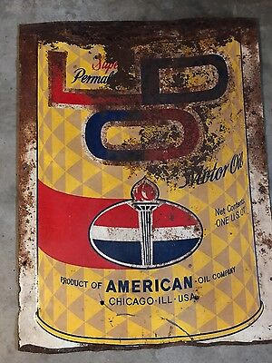 American Oil Company motor oil metal sign 29 x 22