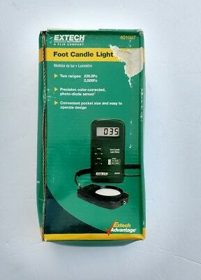 NIB Extech Foot Candle Light Meter OSHA Compliance Testing LCD Battery