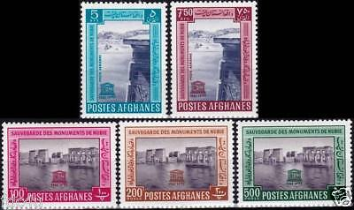 Afghanistan 1963 Stamps Save The Monuments Of Nubia MNH