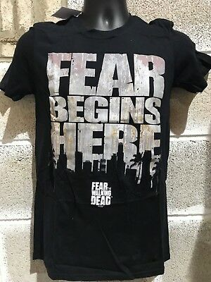 Men's Ex Store the walking dead fear begins here T Shirts