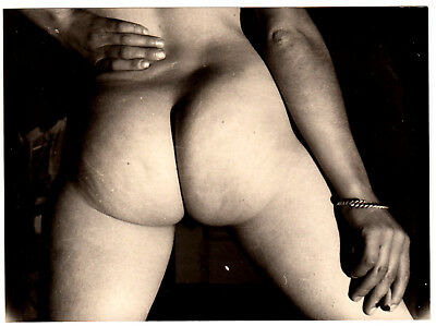 "ARTISTIC BACKSIDE NUDE STUDY / AKTSTUDIE PO * Vintage 60s French Photo ""L"""