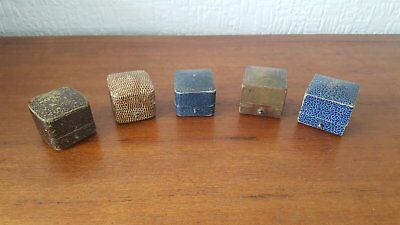 5 x Antique or Vintage Ring Display Jewellery Boxes - Job Lot