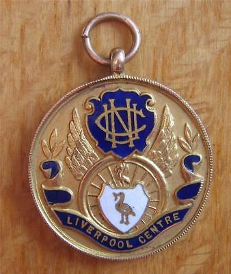 Historic Gold 2nd Place Cycling Medal NCU One Mile Championship 1922 Liverpool
