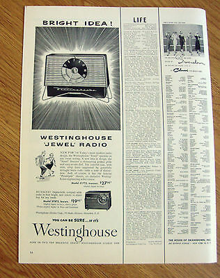 1954 Westinghouse Jewel Radio Ad