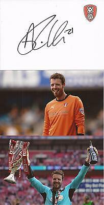Rotherham * Adam Collin Signed 6X4 Crested White Card+2 Free Unsigned Photos+Coa