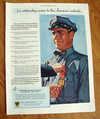 1954 Ethyl Gasoline Ad  Outstanding Service to the American Motorist