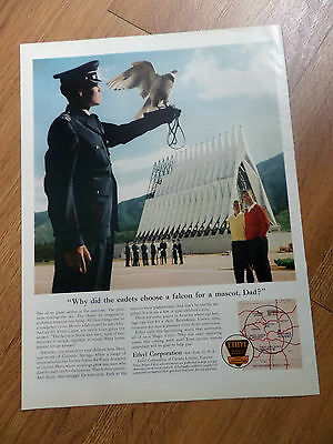 1961 Ethyl Ad Chapel Falcon Air Force Cadet Air Force Academy Colorado