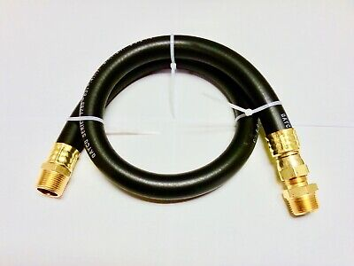 "Compressed Air Jumper Hose 3/4"" MPT  With Female Swivel 500 P.S.I. 2-feet Hose"
