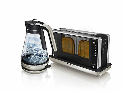 morphy Richards Redefine Glass Kettle and Toaster Set