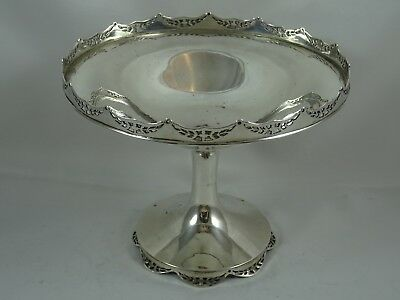 ATTRACTIVE solid silver FRUIT STAND, 1916, 312gm