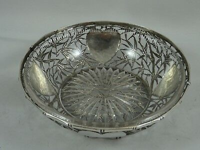 CHINESE EXPORT, solid silver SWEET BOWL, c1900, 265gm
