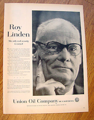 1958 Union Oil 76 Ad  Roy Linden