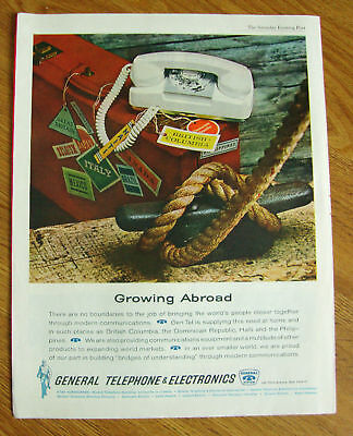 1962 General Telephone Electronics Ad