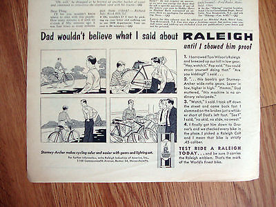 1959 Raleigh Bicycle Ad