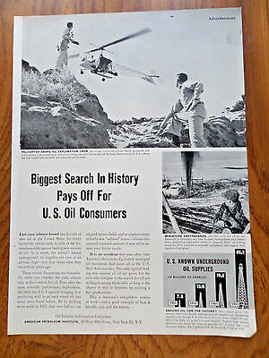 1952 Oil Industry Ad Biggest Search in History Pays Off California